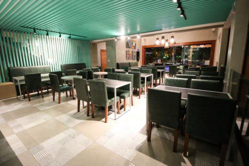 Salão do café.