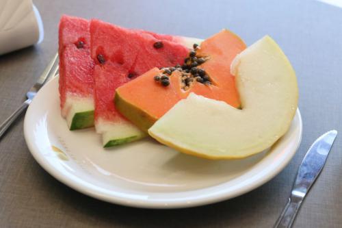 Frutas frescas e selecionadas.